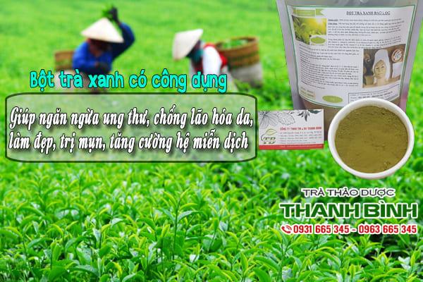 bột trà xanh thảo dược thanh bình