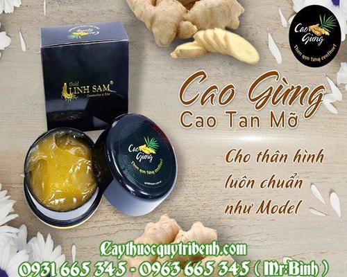 Mua bán cao gừng tại Lạng Sơn có tác dụng giảm mỡ thừa vùng bụng và đùi