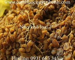 Mua bán nho khô tại quận Gò Vấp có tác dụng giúp cung cấp năng lượng